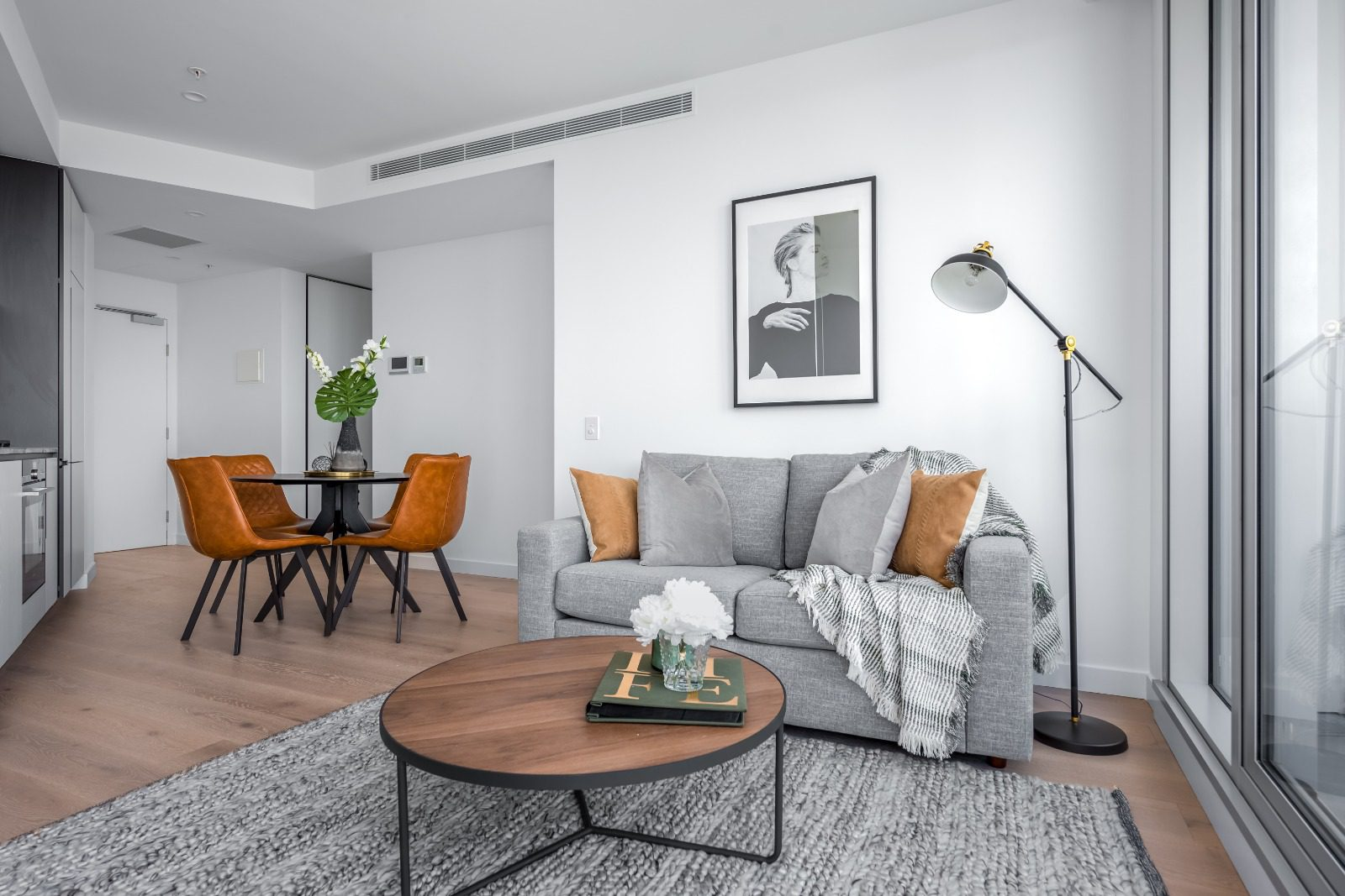 Apartment Living/Dining room in South Yarra
