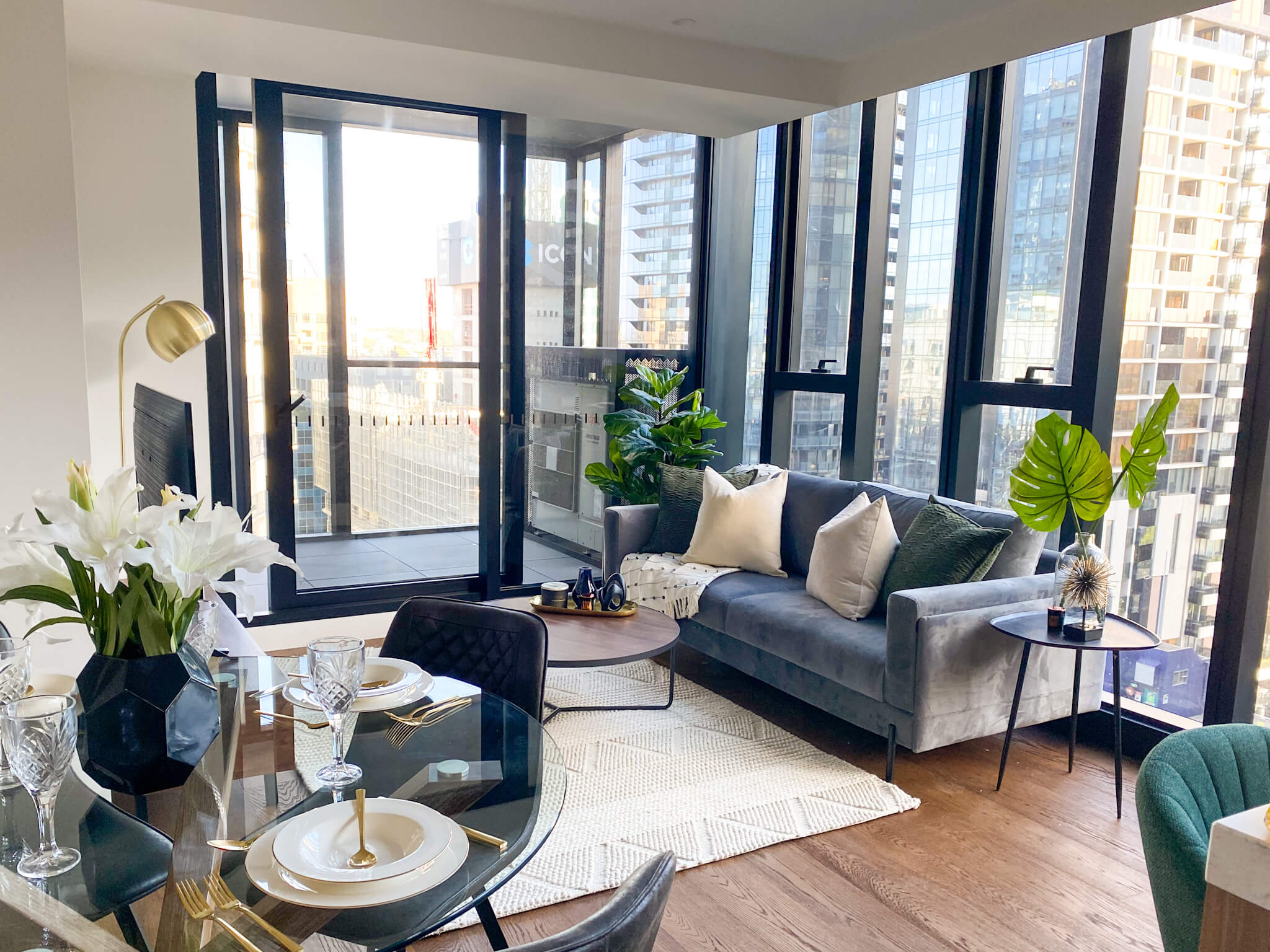 Apartment living room styling