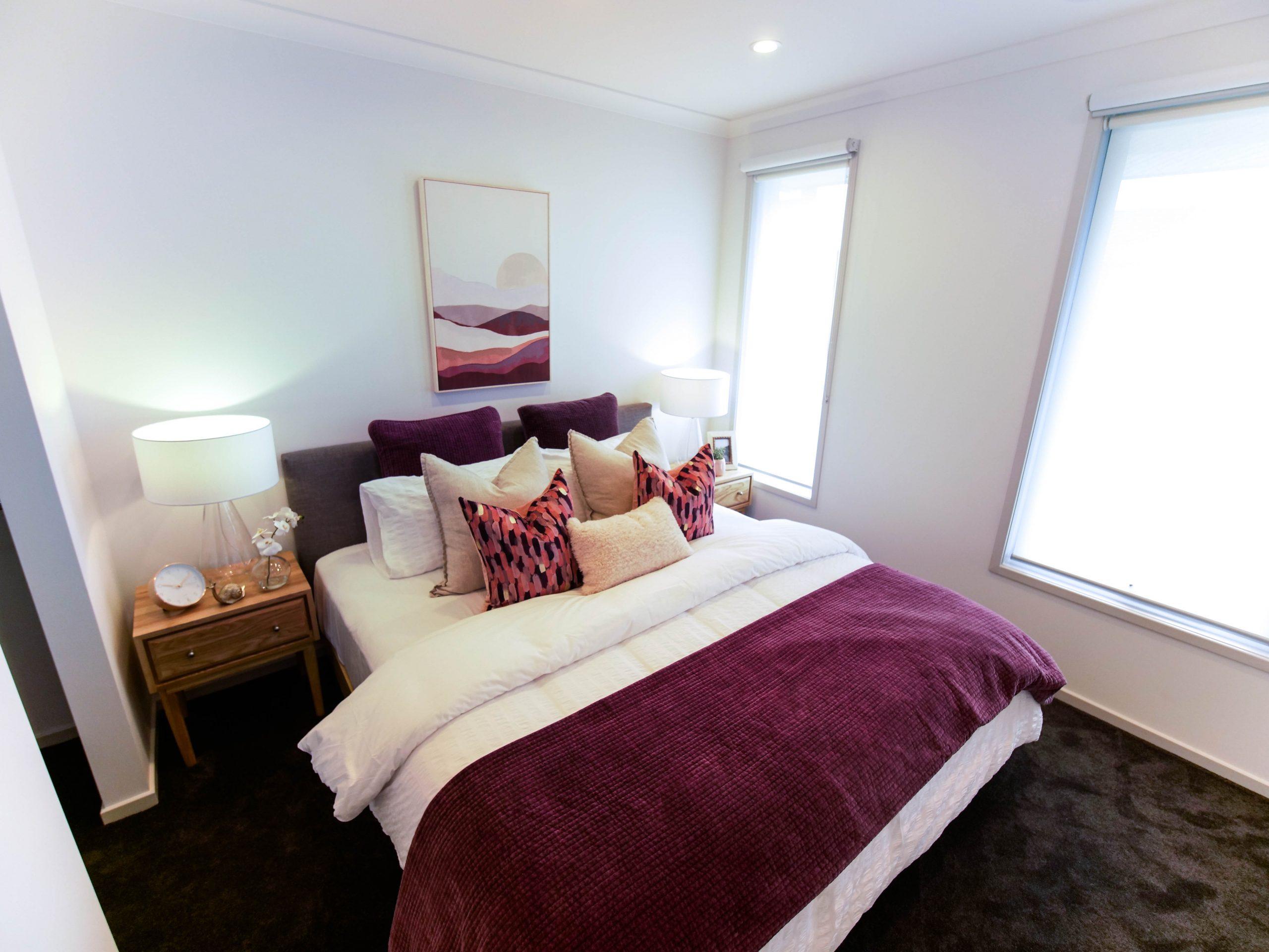 Master Bedroom burgundy colour