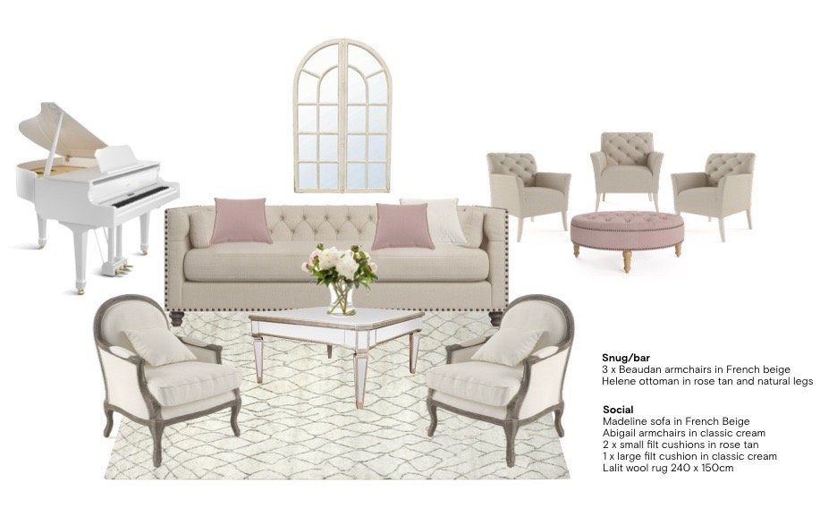French Provincial moodboard for a Living room
