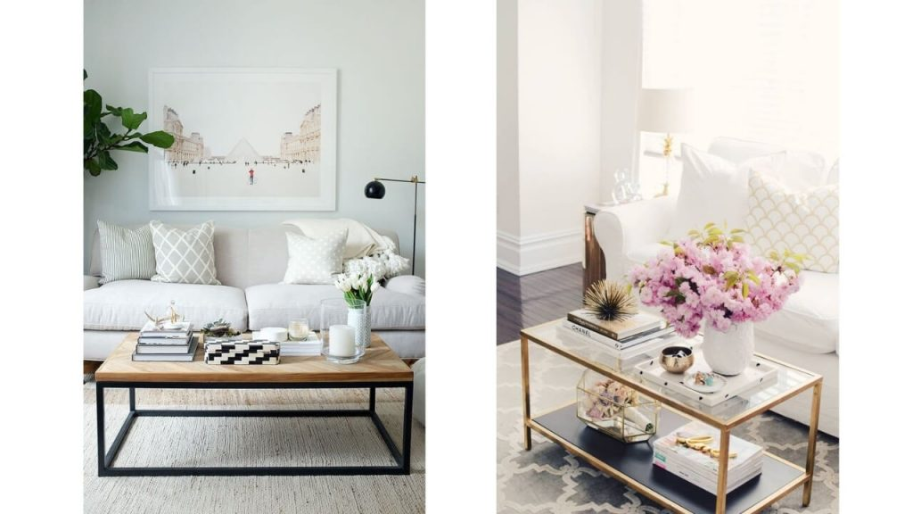 How to style a rectangle coffee table