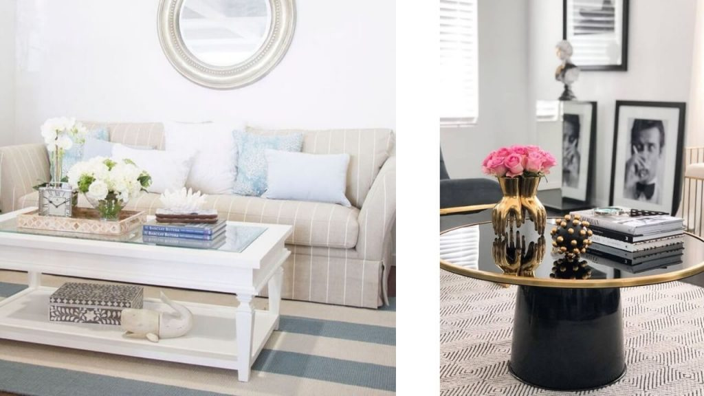 Style a coffee table for hamptons home