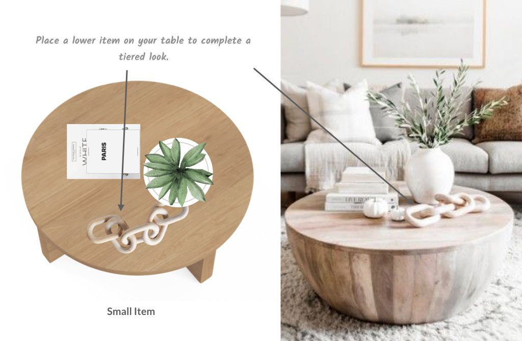Layering your coffee table styling