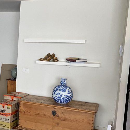 Shelves before styling