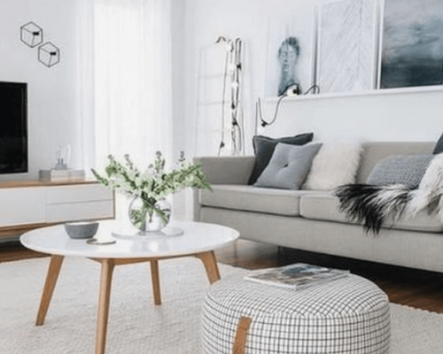 Scandinavian living room design for small home