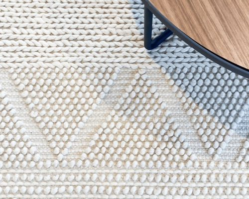 modern cosy textured wool rug high pile